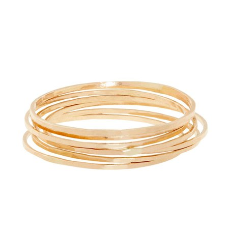 Catbird, Threadbare Ring, Yellow Gold