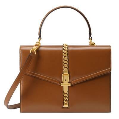 Brown Sylvie 1969 small top handle bag | GUCCI® US