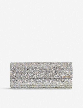 JIMMY CHOO - Sweetie glitter acrylic clutch | Selfridges.com