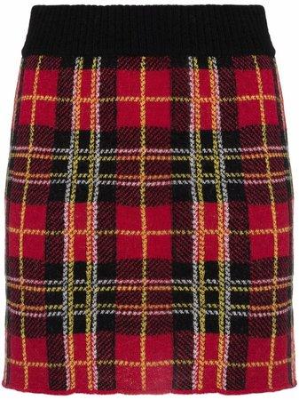 RED Valentino tartan knitted skirt