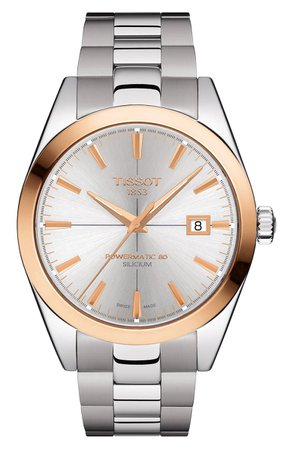 Tissot Gentleman Powermatic Bracelet Watch, 40mm | Nordstrom