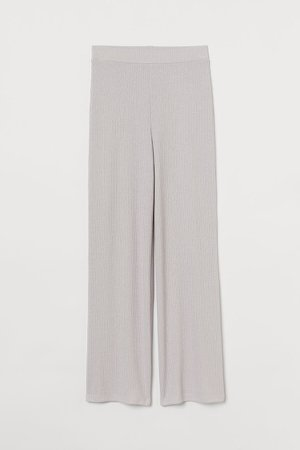Ribbed Pants - Gray