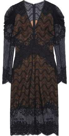 Gathered Corded Lace Dress