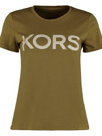 Michael Kors Studded Logo Cotton T-shirt