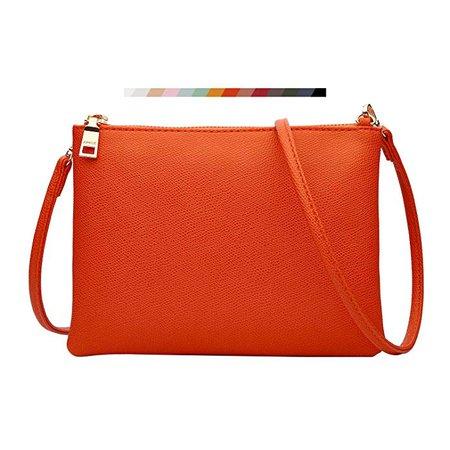 Crossbody Bag for Women, Small Shoulder Purses and Handbags LightweightPU Leather Wallet with Detachable Straps (Orange): Handbags: Amazon.com