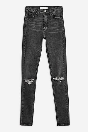 Bleach Ripped Jamie Jeans - Topshop USA