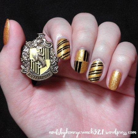 hufflepuff nails - Google Search
