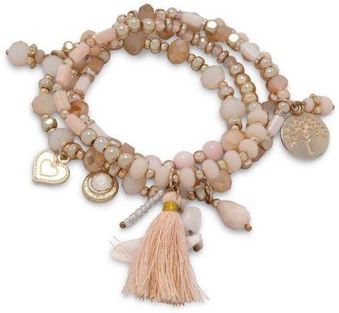 Wild Lilies Jewelry Peach Charm Bracelet