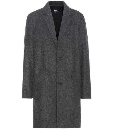 Wool Coat in Aethracite Chiee