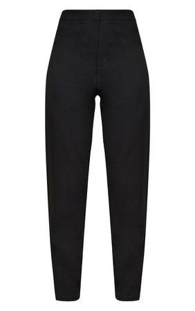Black Straight Leg Tailored Pants | PrettyLittleThing USA