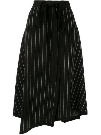 Proenza Schouler Knitted Pinstriped Wrap Skirt - Farfetch