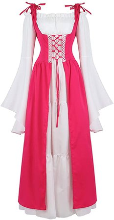 Amazon.com: frawirshau Renaissance Costume Women Medieval Dress: Clothing