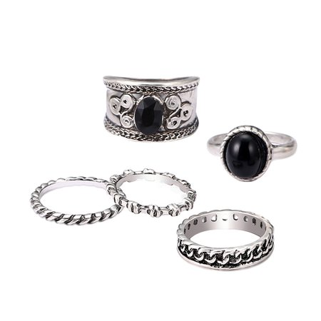 5pcs Women Men Antique Ring Set Gothic Punk Ring Kit for Hands Finger Decoration (Antique Silver)-in Rings from Jewelry & Accessories on Aliexpress.com | Alibaba Group