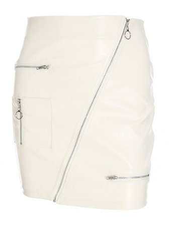 JurllyShe Zippers Sexy PU Leather Skirt For Work