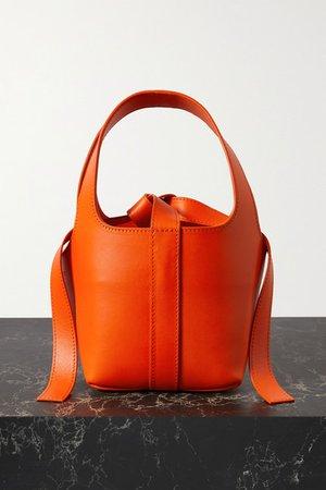 Bento Leather Tote - Orange