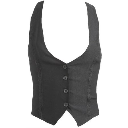 Lace Trim T Back Vest