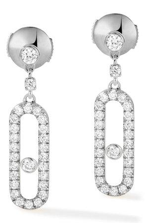 Messika Move Uno Pavé Diamond Drop Earrings | Nordstrom