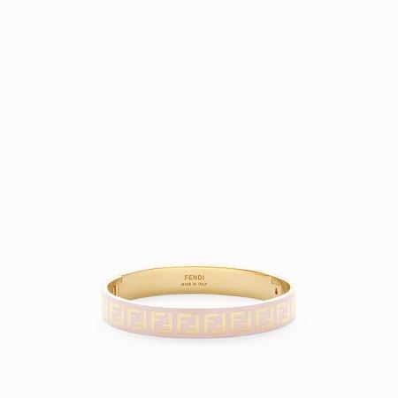 Gold and pink coloured bracelet - FF BRACELET | Fendi