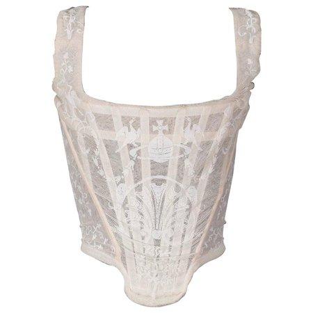 Vivienne Westwood ivory corset, 'portrait collection'