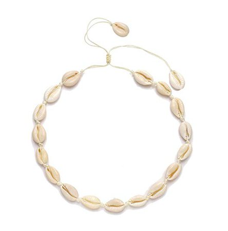 CENAPOG Cowrie Shell Choker Necklace for Women Boho Shell Pendant Necklace Corded Seashell Necklace Cowry Collar Necklace Handmade Shell Beach Jewelry for Summer