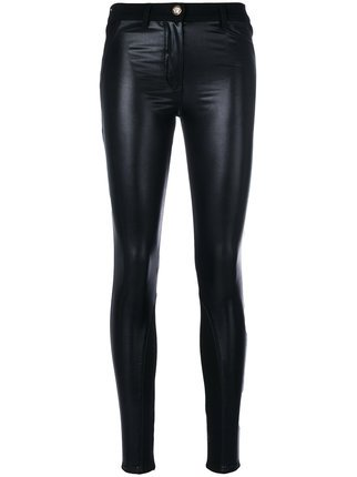 Versace Eco-Leather skinny jeans