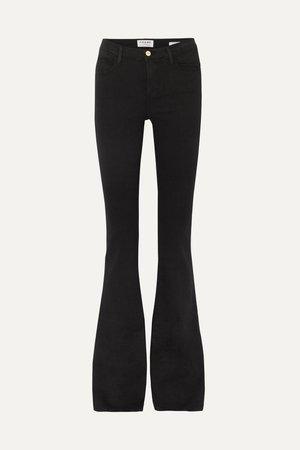 Black Le High Flare high-rise jeans | FRAME | NET-A-PORTER