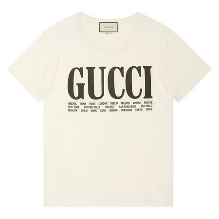Gucci Gucci Cities Print T-Shirt