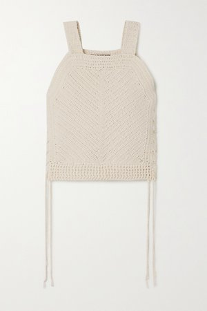 Ivory Violet cropped crocheted cotton-blend tank | Nili Lotan | NET-A-PORTER