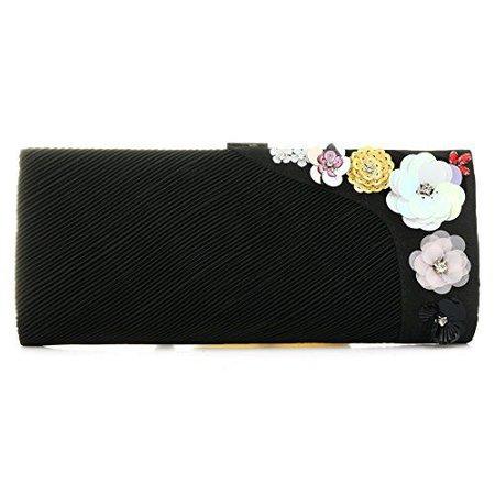 Flower Pleated Evening Bags Elegant Floral Clutch Purse Handbag for Women