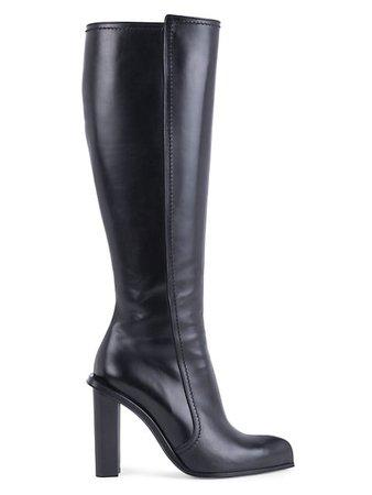 Alexander McQueen Knee-High Leather Boots | SaksFifthAvenue