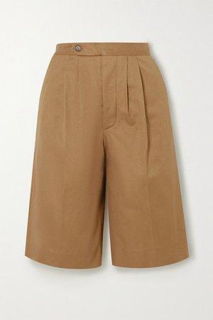 Cotton-twill Shorts - Tan