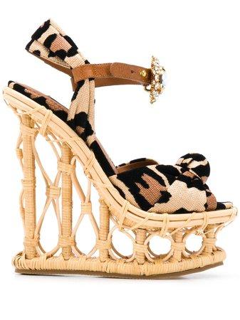 Dolce & Gabbana Leopardmönstrade Sandaler - Farfetch