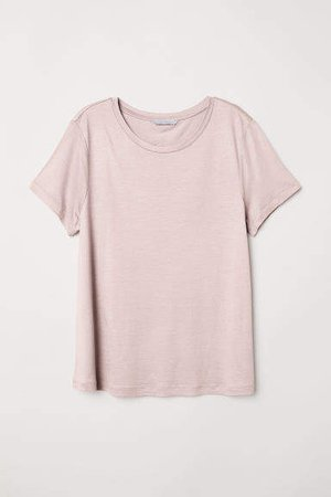 Jersey Top with a Sheen - Pink