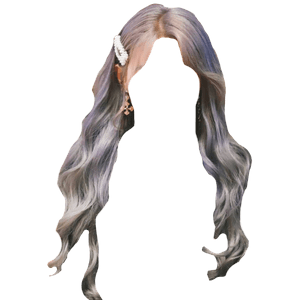 grey/gray hair png purple or blue