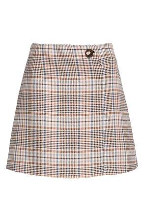 sandro Plaid Miniskirt | Nordstrom