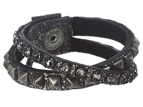 Leatherock B337 leather cuff bracelet