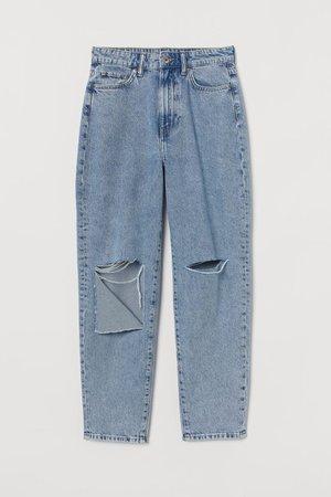 Mom High Ankle Jeans - Denim blue - Ladies | H&M US