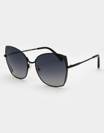 DIFF EYEWEAR Donna Black Sunglasses - BLACK - BK-GG197 | Tillys
