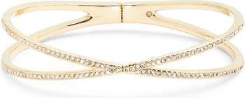 Pavé Crisscross Hinged Cuff Bracelet | Nordstrom