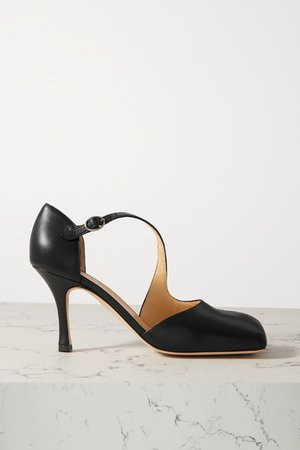 Mary Leather Pumps - Black