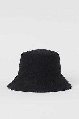 Wool Bucket Hat - Black