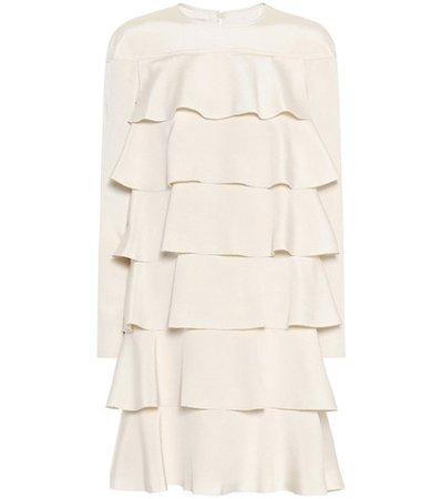 Tiered silk dress