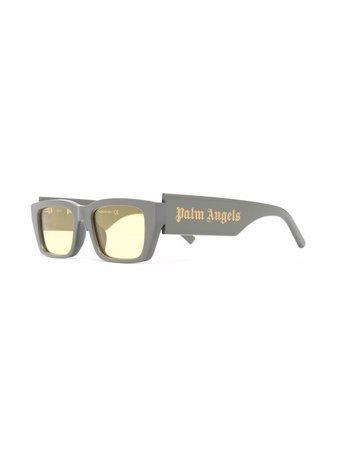 Palm Angels rectangle-frame Palm Sunglasses - Farfetch