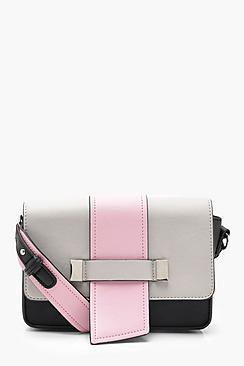 Amy Colour Block Structured Cross Body