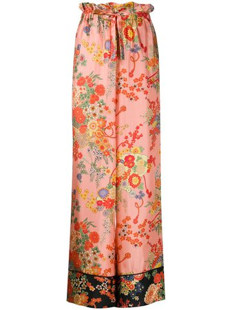 Palm Angels Blooming pajama-style Trousers - Farfetch