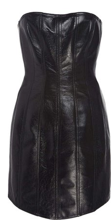 Corset Leather Strapless Dress