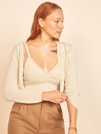 Tille Tank And Cardi Set - Sustainable Sweaters | Reformation