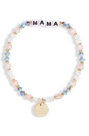 Little Words Project Mama Beaded Stretch Bracelet | Nordstrom