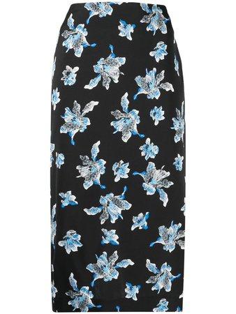 Shop black DVF Diane von Furstenberg floral print skirt with Express Delivery - Farfetch