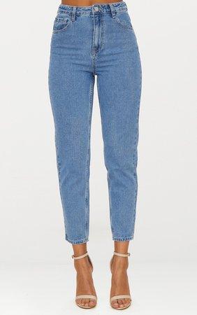 Straight Leg Mid Wash Jean | Denim | PrettyLittleThing